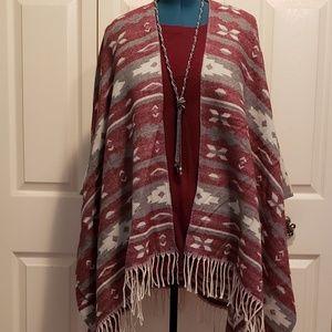 Xhilaration Pancho-style Kimono